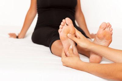 Gesunde Fußsohlen ohne Infektionen.
