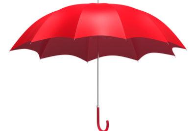 Aviras Markenzeichen ist ein roter Regenschirm.