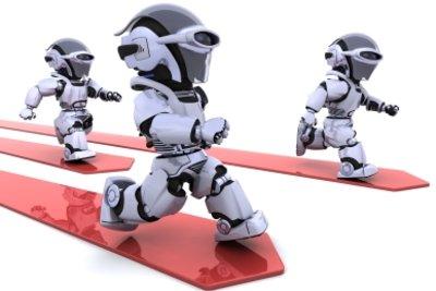 Basteln Sie Ihren eigenen Roboter nach Anleitung.