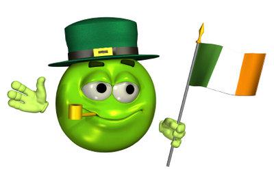Am 17. März ist der St. Patrick's Day.