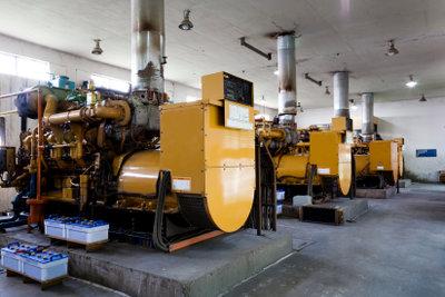 Ein Generator erzeugt Wechselstrom.
