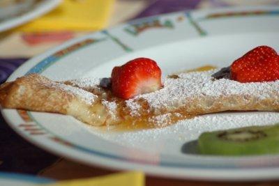 Pfannkuchen werden mit Buttermilch im Teig sehr locker.