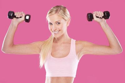 Sport-BHs stützen bei starken Bewegungen.