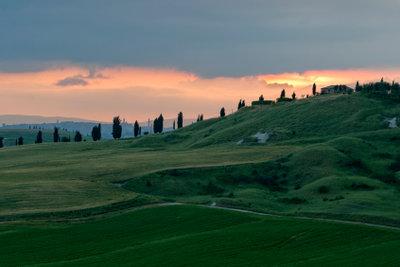 Typische Landschaft der Toskana