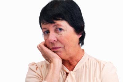 Depressionen sind in Wechseljahren möglich.