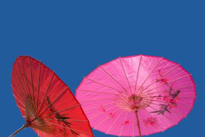 Schirme schützen vor zu viel Sonne.