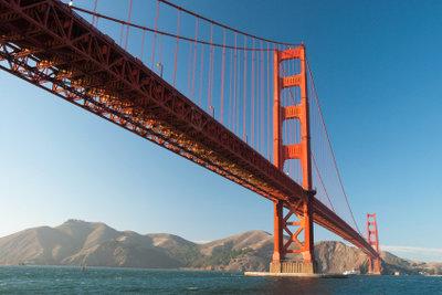 Eines der Wahrzeichen der Westküste: die Golden Gate Bridge.