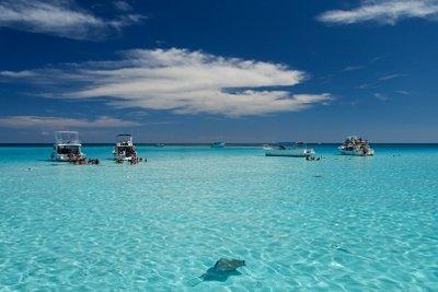 Im Tropical Island finden Sie einen Südseestrand.