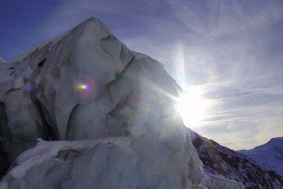 Einen kleinen Eisberg kann man aus Natriumacetat zaubern.
