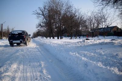 Straßen, die nicht geräumt werden, befahren Sie auf eigene Gefahr.