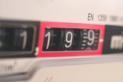 Der Gasverbrauch wird in Kubikmeter abgelesen.