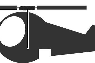 Das ist ein Schema des Hubschraubers.