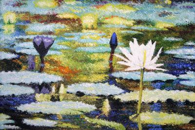 Seerosen sind ein beliebtes Motiv impressionistischer Malerei.