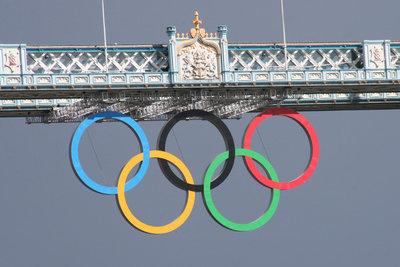 Das Symbol der Olympischen Spiele.