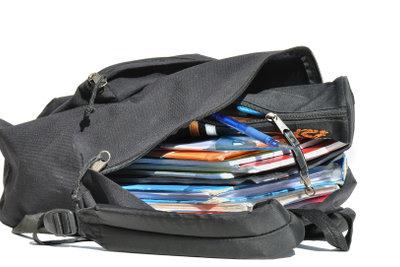 Es gibt diverse Modelle von Rucksäcken für die Schule.