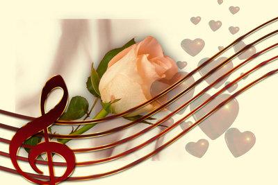 Romantische Lieder gehören zum Einzug zur Trauung einfach dazu.