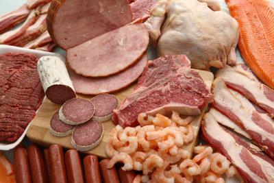 Fleisch enthält viel Eisen.