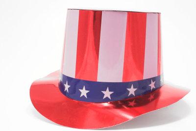 Uncle Sam als Faschingskostüm - der Zylinder darf nicht fehlen.