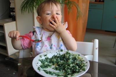 Spinat können Sie problemlos aufwärmen.