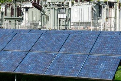 Diese Module verwandeln Sonnenlicht in elektrischen Strom.