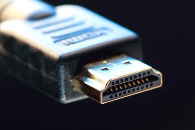 Die Nahaufnahme eines HDMI-Kabels