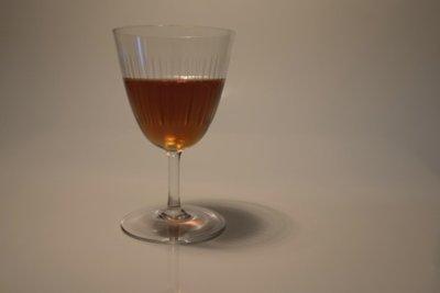 Auch ein Gläschen Alkohol macht fett.