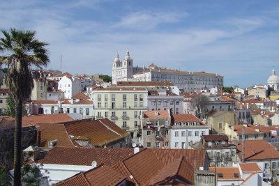Herrlicher Blick auf die Altstadt Lissabons