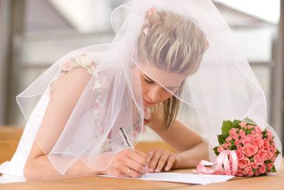 Wie Sie Ihr Ehegelübde selbst schreiben