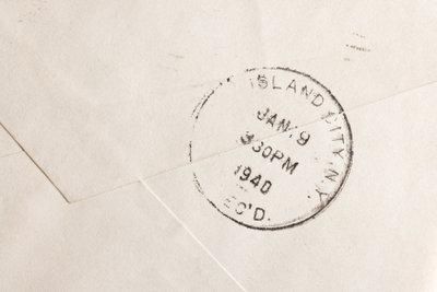 Der Poststempel belegt das Versanddatum.
