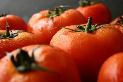 Am bekanntesten sind die rundherum roten Tomaten.