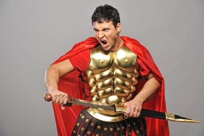 Ein Kostüm im Stil eines Spartaners