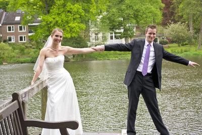 Frisch verheiratetes Glück