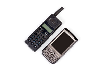 Die ersten Handys sahen anders aus.