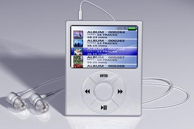 MP3-Player können teils hunderte Alben speichern und wiedergeben.