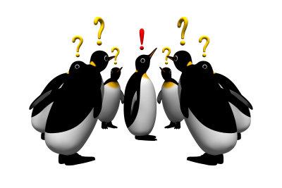 Den passenden Zeichencode für einen Pinguin nutzen