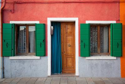 Tür plus Vorhang - eine unschlagbare Kombination