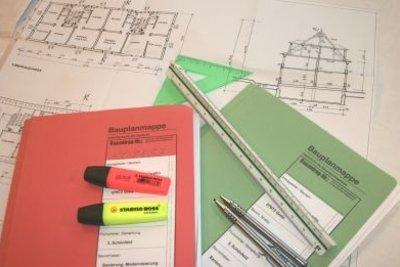 Das Ergebnis der Arbeit - die Bauzeichnung