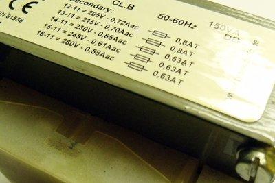 Transformatoren sollten richtig abgesichert werden.