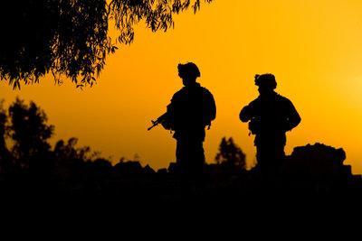Das Leben der Soldaten ist nicht immer so idyllisch