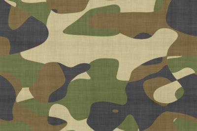Camouflagestoffe werden sehr häufig für Militärkleidung genommen.