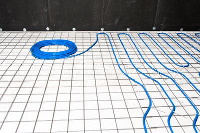 Heizschleifen einer Fußbodenheizung