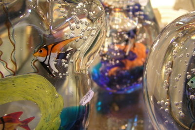 Glasblasen ist sehr kreativ.