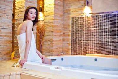 Ein duftendes Bad entspannt.