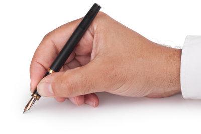 Überlegen Sie die Formulierung gut, bevor Sie schreiben.