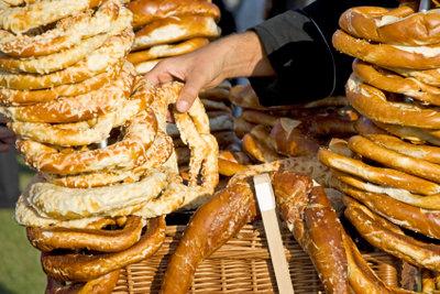 Laugengebäck ist eine beliebte Zwischenmahlzeit.