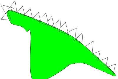 Schnittschema für das Drachenkostüm