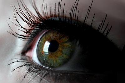 Braune Augen sind oft schon grünlich.