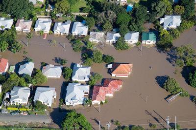 Hochwasser ist eine Naturkatastrophe.