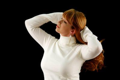 Kupferbraunes Haar kann richtig schön glänzen.
