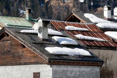 Schneefang am Dach für die Sicherheit